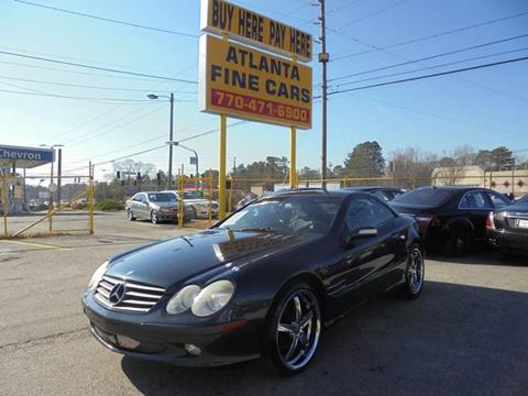 2004 Mercedes-Benz SL-Class for sale at Atlanta Fine Cars in Jonesboro GA