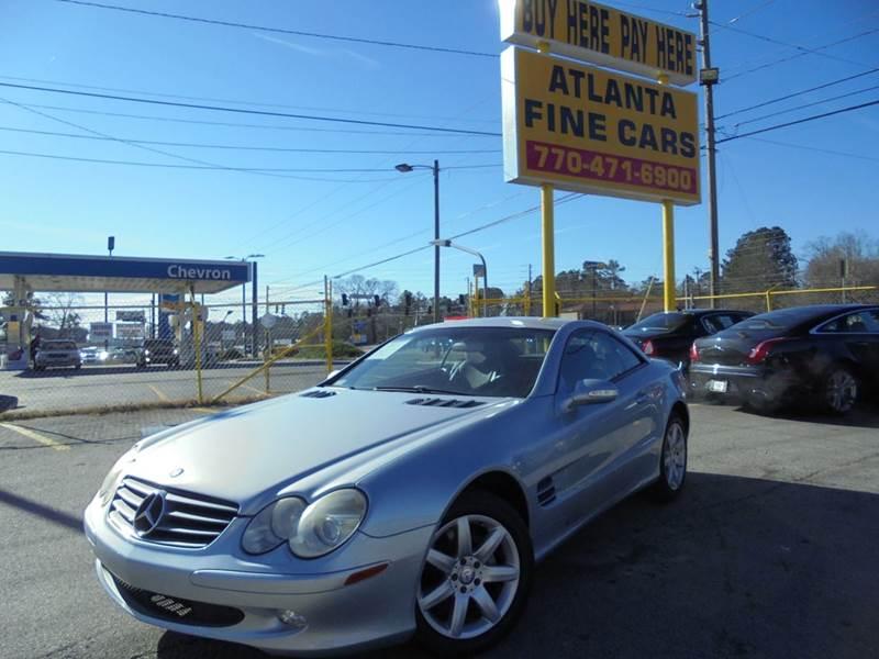 2003 mercedes benz sl class sl 500 2dr convertible in jonesboro ga atlanta fine cars. Black Bedroom Furniture Sets. Home Design Ideas