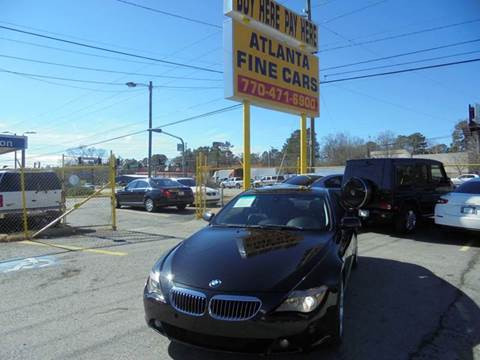 2007 BMW 6 Series for sale at Atlanta Fine Cars in Jonesboro GA
