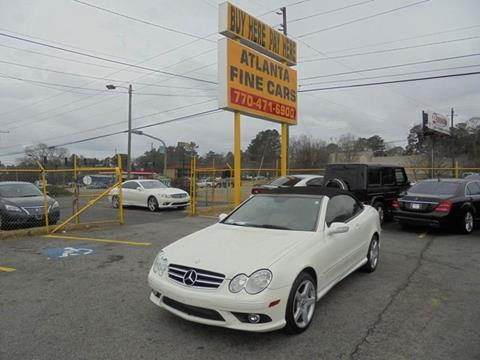 2007 Mercedes-Benz CLK for sale at Atlanta Fine Cars in Jonesboro GA