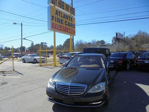 2012 Mercedes-Benz S-Class for sale at Atlanta Fine Cars in Jonesboro GA