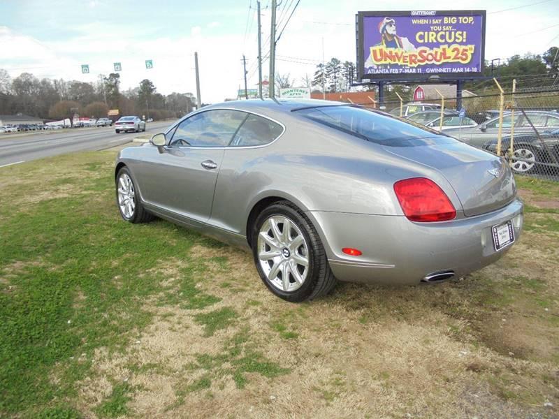 2005 bentley continental awd gt turbo 2dr coupe in jonesboro ga atlanta fine cars. Black Bedroom Furniture Sets. Home Design Ideas