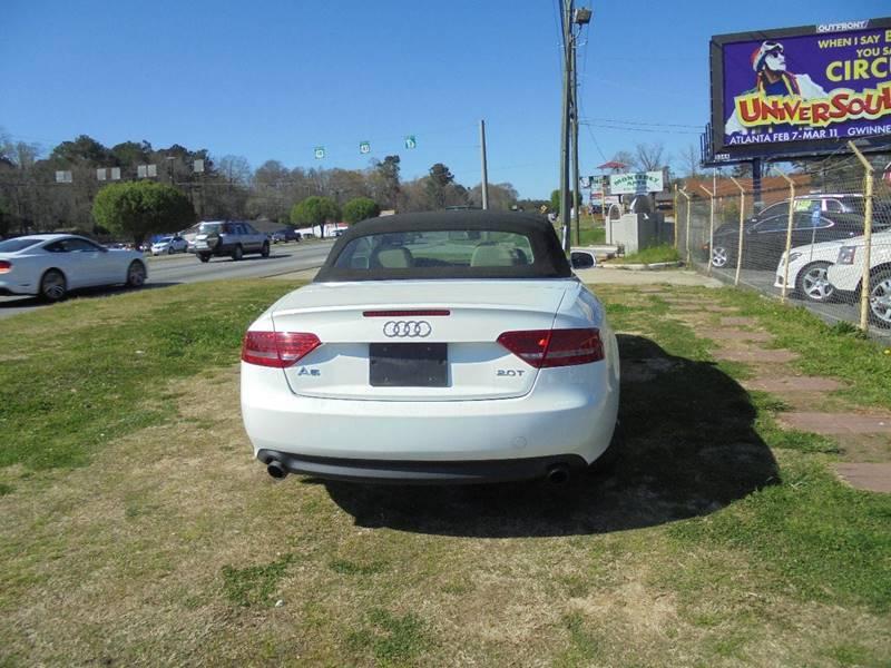 2010 Audi A5 2.0T Premium Plus 2dr Convertible In Jonesboro GA - Atlanta Fine Cars