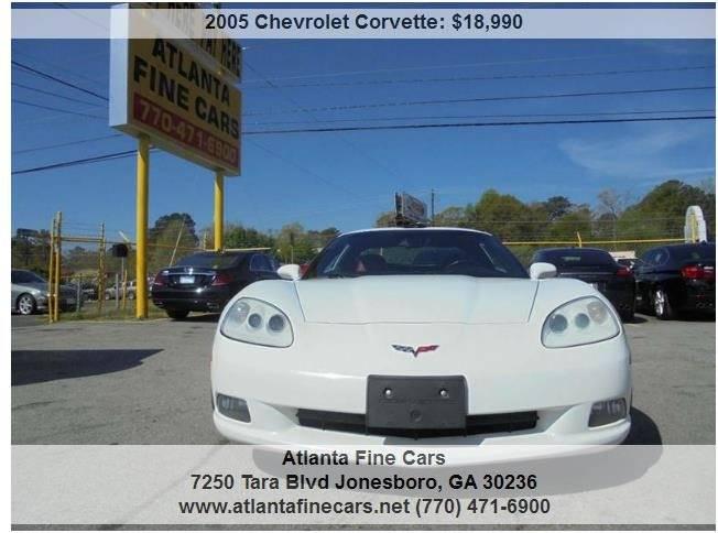 2005 chevrolet corvette 2dr coupe in jonesboro ga atlanta fine cars. Black Bedroom Furniture Sets. Home Design Ideas