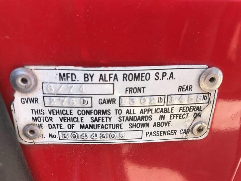 1974 Alfa Romeo Spider INIEZIONE - Jonesboro GA