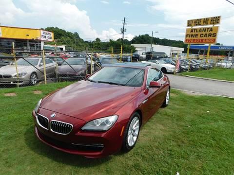 2012 BMW 6 Series for sale at Atlanta Fine Cars in Jonesboro GA