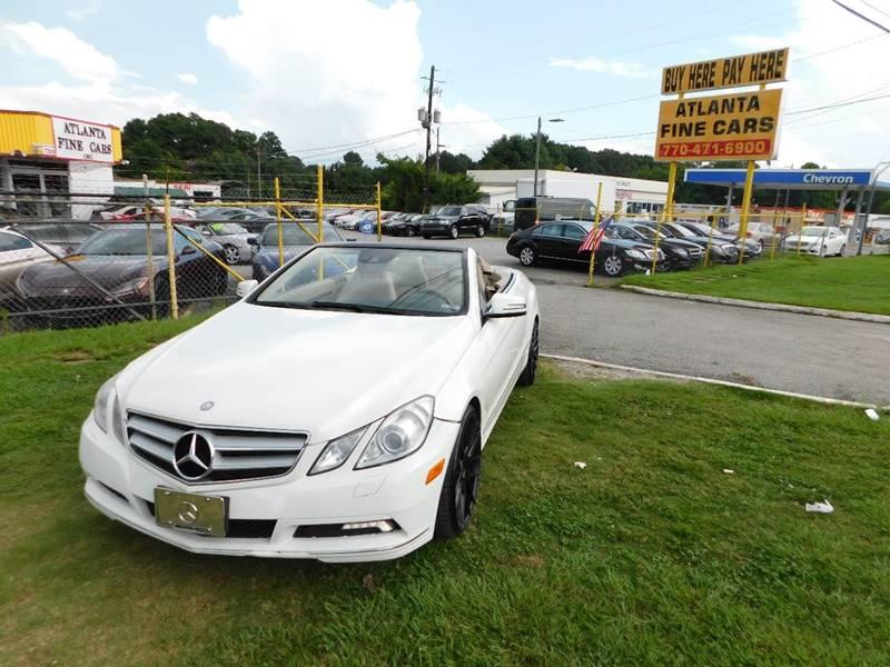 2011 Mercedes-Benz E-Class for sale at Atlanta Fine Cars in Jonesboro GA