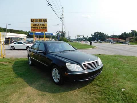 2003 mercedes benz s class s 500 4dr sedan in jonesboro ga atlanta fine cars. Black Bedroom Furniture Sets. Home Design Ideas