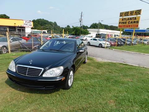 2003 Mercedes-Benz S-Class for sale at Atlanta Fine Cars in Jonesboro GA