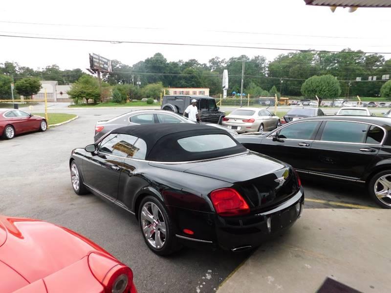 2007 bentley continental awd gt 2dr convertible in jonesboro ga atlanta fine cars. Black Bedroom Furniture Sets. Home Design Ideas