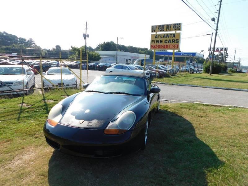 2002 porsche boxster 2dr convertible in jonesboro ga atlanta fine cars. Black Bedroom Furniture Sets. Home Design Ideas