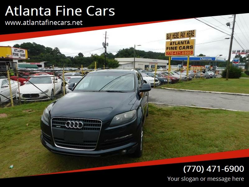Buy Here Pay Here Atlanta Ga No Credit Check >> 2009 Audi Q7 AWD 3.6 quattro Premium 4dr SUV In Jonesboro GA - Atlanta Fine Cars