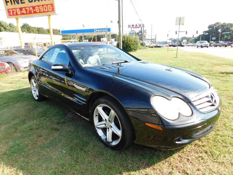 2004 mercedes benz sl class sl 500 2dr convertible in jonesboro ga atlanta fine cars. Black Bedroom Furniture Sets. Home Design Ideas