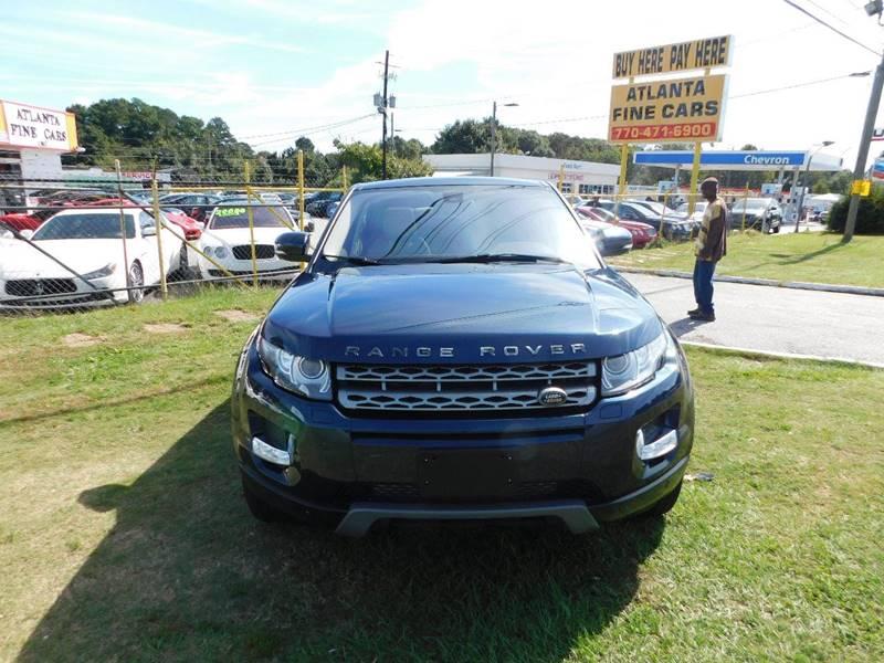 Buy Here Pay Here Atlanta Ga No Credit Check >> 2013 Land Rover Range Rover Evoque AWD Pure Premium 4dr SUV In Jonesboro GA - Atlanta Fine Cars