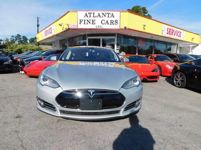 2013 Tesla Model S for sale at Atlanta Fine Cars in Jonesboro GA