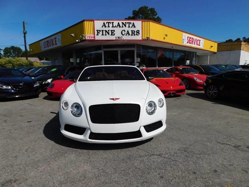 2014 Bentley Continental for sale at Atlanta Fine Cars in Jonesboro GA
