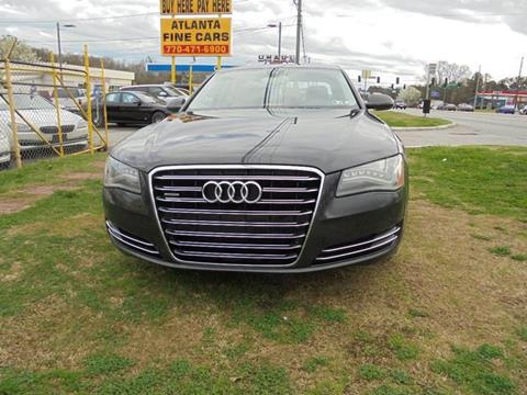 2011 Audi A8 for sale at Atlanta Fine Cars in Jonesboro GA