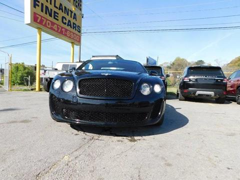 2011 Bentley Continental for sale at Atlanta Fine Cars in Jonesboro GA