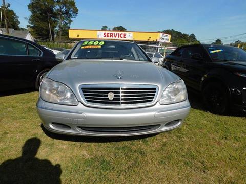 2001 Mercedes-Benz S-Class for sale at Atlanta Fine Cars in Jonesboro GA