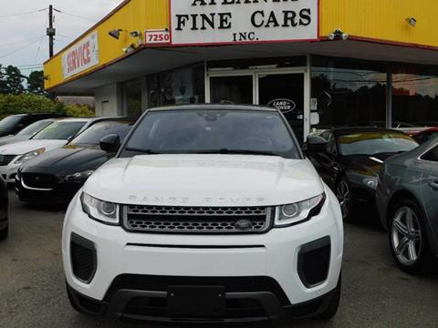 2017 Land Rover Range Rover Evoque Convertible for sale at Atlanta Fine Cars in Jonesboro GA