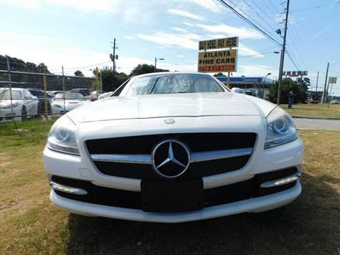 2015 Mercedes-Benz SLK for sale at Atlanta Fine Cars in Jonesboro GA