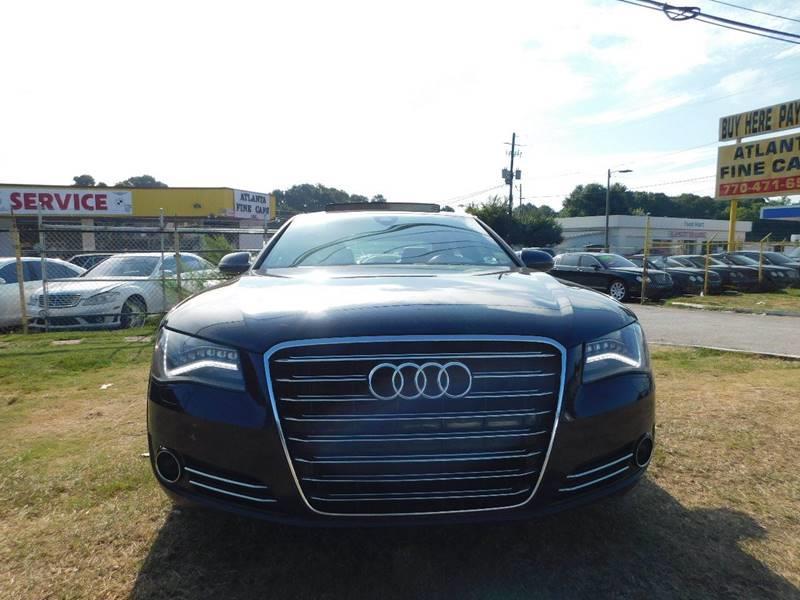 2011 Audi A8 L for sale at Atlanta Fine Cars in Jonesboro GA