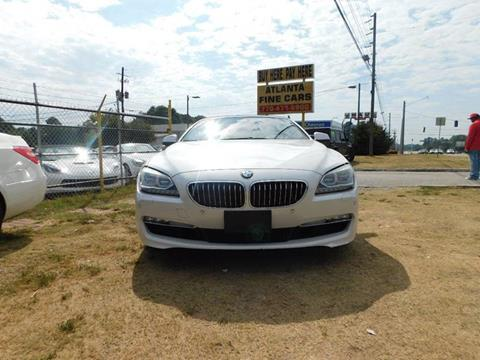 2015 BMW 6 Series for sale at Atlanta Fine Cars in Jonesboro GA