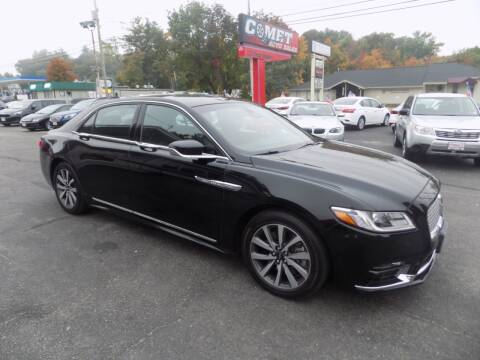 2017 Lincoln Continental for sale at Comet Auto Sales in Manchester NH