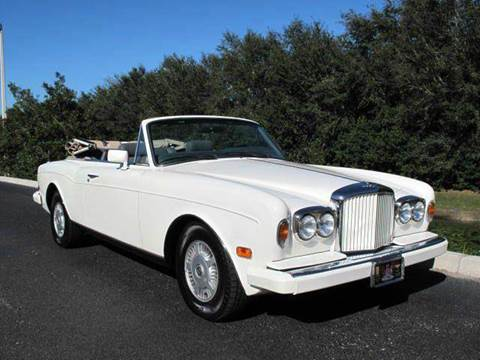 1989 Bentley Continental for sale at Auto Marques Inc in Sarasota FL