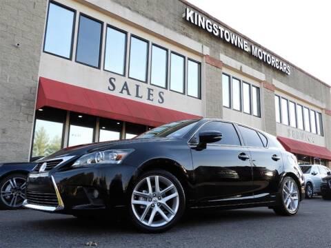 2016 Lexus CT 200h for sale in Manassas, VA