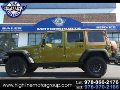 2008 Jeep Wrangler Unlimited for sale at Highline Group Motorsports in Lowell MA