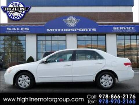 2003 Honda Accord LX for sale at Highline Group Motorsports in Lowell MA