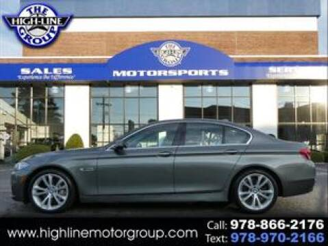 2014 BMW 5 Series for sale at Highline Group Motorsports in Lowell MA