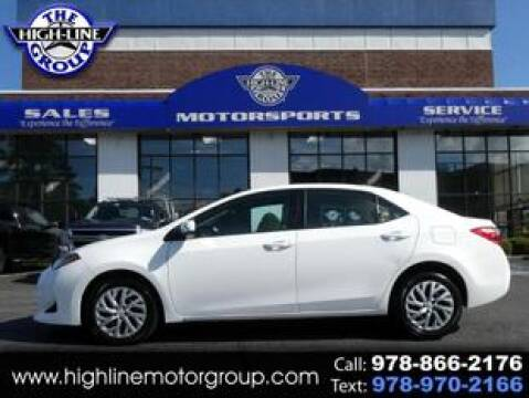 2017 Toyota Corolla for sale at Highline Group Motorsports in Lowell MA