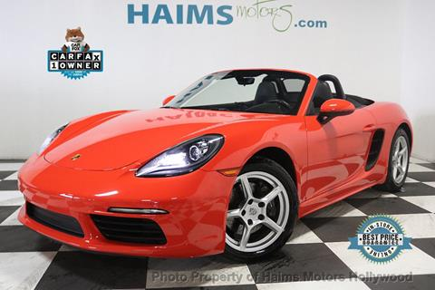 2017 Porsche 718 Boxster for sale in Hollywood, FL
