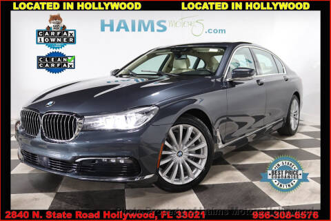 2017 BMW 7 Series 740i for sale at Haims Motors of Hollywood in Hollywood FL