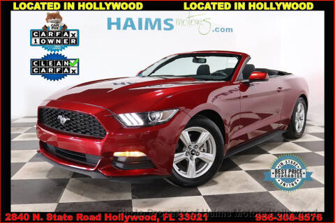 2017 Ford Mustang V6 for sale at Haims Motors of Hollywood in Hollywood FL