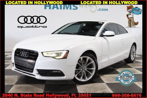 2013 Audi A5 2.0T quattro Premium Plus for sale at Haims Motors of Hollywood in Hollywood FL