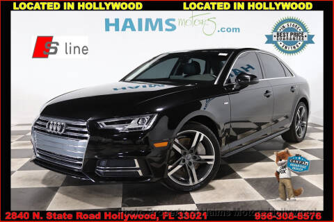 2017 Audi A4 2.0T quattro Premium Plus for sale at Haims Motors of Hollywood in Hollywood FL