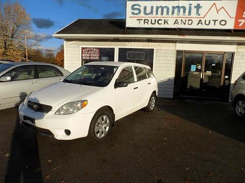 2006 Toyota Matrix for sale at SUMMIT TRUCK & AUTO INC in Akron NY