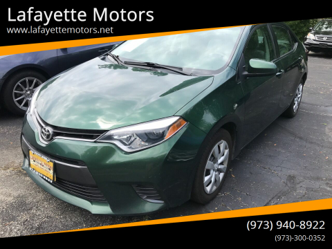 2016 Toyota Corolla for sale at Lafayette Motors in Lafayette NJ