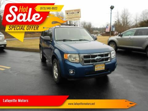 2008 Ford Escape for sale at Lafayette Motors 2 in Andover NJ