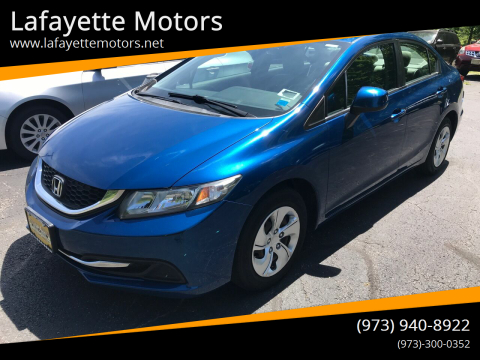 2013 Honda Civic for sale at Lafayette Motors in Lafayette NJ