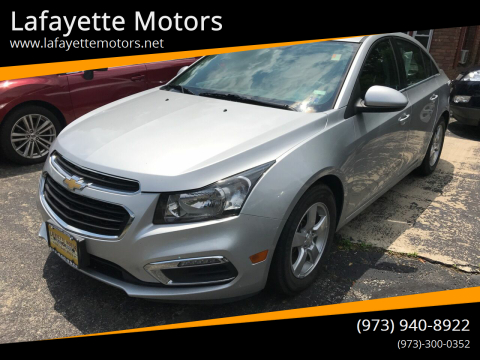 2016 Chevrolet Cruze Limited for sale at Lafayette Motors in Lafayette NJ