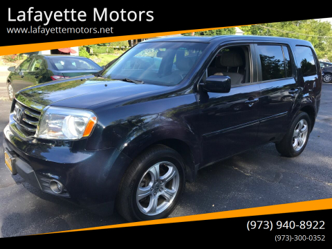 2012 Honda Pilot for sale at Lafayette Motors in Lafayette NJ