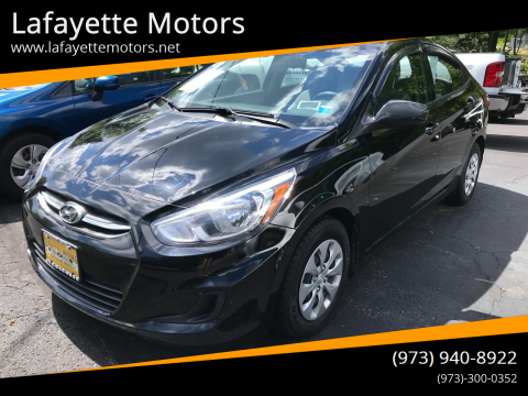 2016 Hyundai Accent for sale at Lafayette Motors in Lafayette NJ