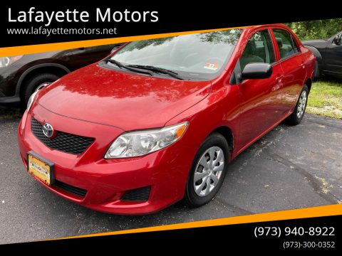 2010 Toyota Corolla for sale at Lafayette Motors in Lafayette NJ
