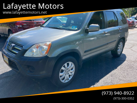 2006 Honda CR-V for sale at Lafayette Motors in Lafayette NJ