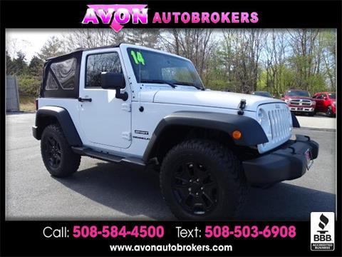 2014 Jeep Wrangler for sale in Avon, MA