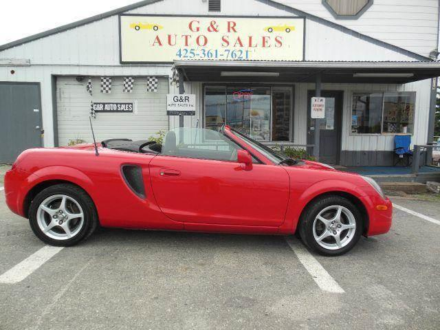 2000 Toyota MR2 Spyder for sale at G&R Auto Sales in Lynnwood WA